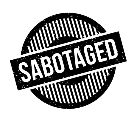 Sabotaged rubber stamp