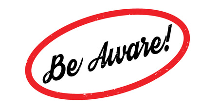Be Aware rubber stamp 向量圖像