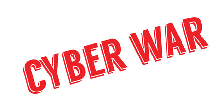 Cyber War rubber stamp Illustration