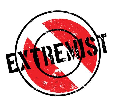 Extremist rubber stamp Banco de Imagens - 87046818