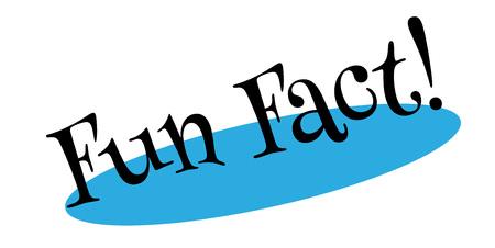 Fun Fact rubber stamp