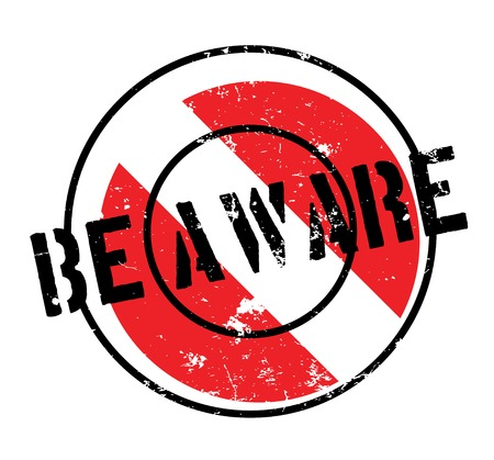 Be Aware rubber stamp Çizim