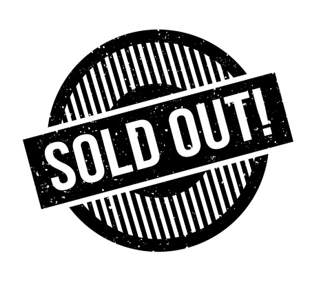 Sold Out rubber stamp Vector Illustration