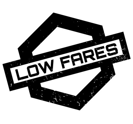 Low Fares rubber stamp Illustration