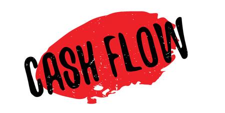 Cash Flow rubber stamp Illustration