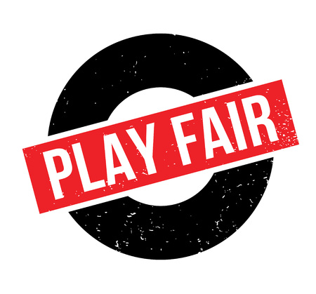 Play Fair rubber stamp