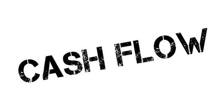 Cash Flow rubber stamp Ilustração