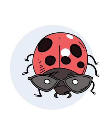 ladybug: Ladybug hand drawn image Illustration