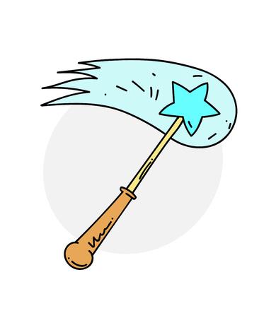 Magic wand vector illustration