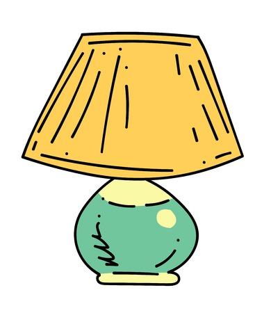 Lamp cartoon hand drawn image Illustration