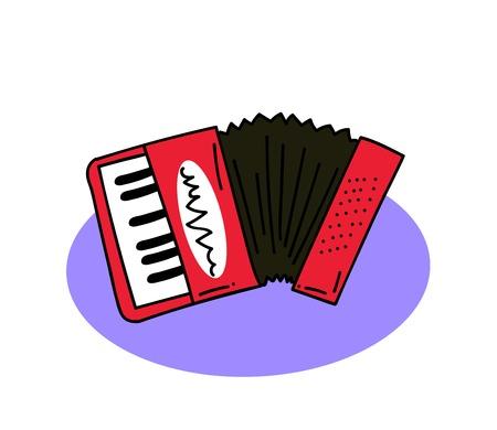 Accordion vector illustration