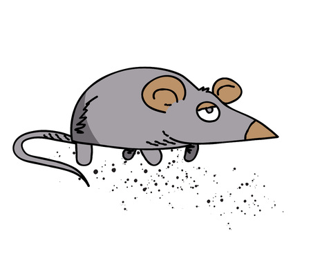 Mouse cartoon hand drawn image