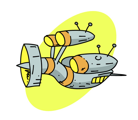 Spaceship Vector illustration. Illustration