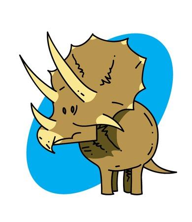 triceratops: Triceratops Vector illustration. Illustration
