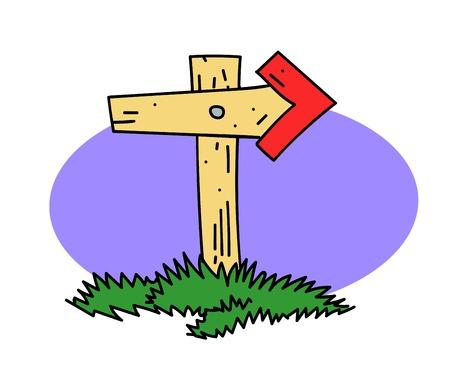 Wooden post Vector illustration. Illustration