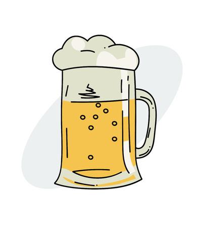 Tankard of beer Vector illustration. Illusztráció