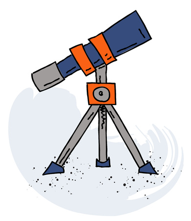 望遠鏡漫画手描き下ろし画像