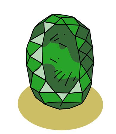 Riesiger Smaragd Vektorgrafik