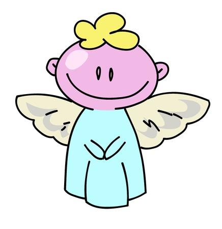 Angel cartoon hand drawn image Illustration