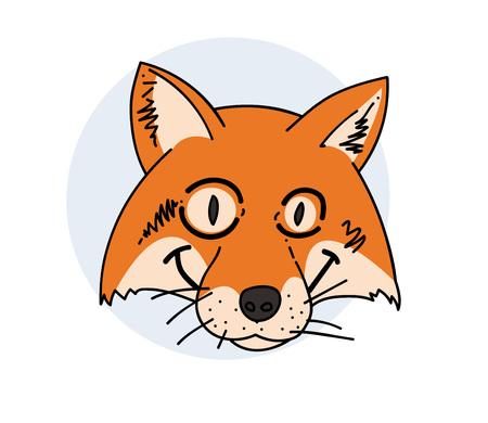 Tricky fox face 向量圖像