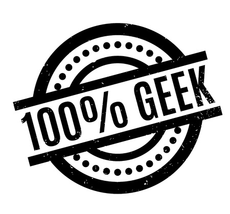 liberal: 100 Geek rubber stamp. Grunge design with dust scratches. Effects can be easily removed for a clean, crisp look. Color is easily changed.
