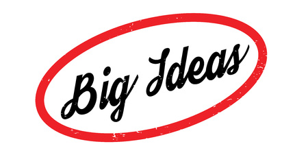 Big Ideas rubber stamp. Grunge design with dust scratches. Effects can be easily removed for a clean, crisp look. Color is easily changed. Illustration