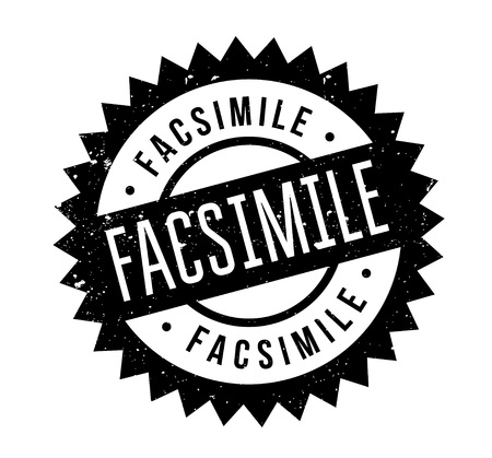 facsimile: Facsimile rubber stamp. Grunge design with dust scratches. Effects can be easily removed for a clean, crisp look. Color is easily changed.