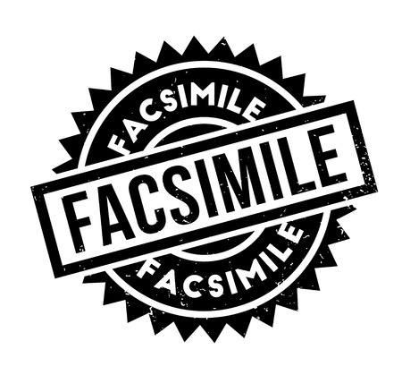 Facsimile rubber stamp. Grunge design with dust scratches. Effects can be easily removed for a clean, crisp look. Color is easily changed.