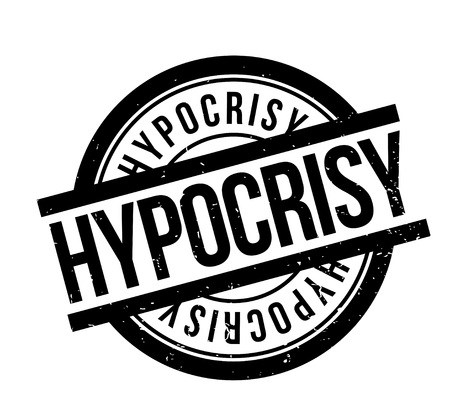 Hypocrisy rubber stamp. Grunge design with dust scratches. Effects can be easily removed for a clean, crisp look. Color is easily changed. Stock Vector - 87530977