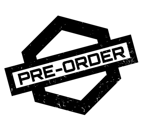 Pre-Order rubber stamp. Grunge design with dust scratches. Effects can be easily removed for a clean, crisp look. Color is easily changed. Illustration