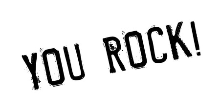 You Rock rubber stamp. Grunge design with dust scratches. Effects can be easily removed for a clean, crisp look. Color is easily changed. Ilustrace