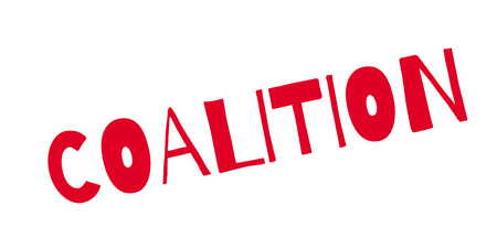 affiliation: Coalition rubber stamp. Grunge design with dust scratches. Effects can be easily removed for a clean, crisp look. Color is easily changed.