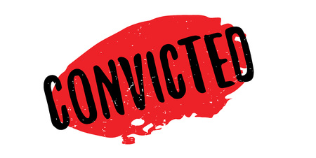 Convicted rubber stamp. Grunge design with dust scratches. Effects can be easily removed for a clean, crisp look. Color is easily changed.
