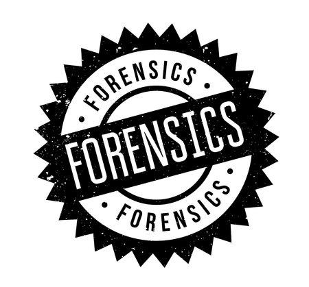Forensics rubber stamp. Grunge design with dust scratches. Effects can be easily removed for a clean, crisp look. Color is easily changed. Illustration