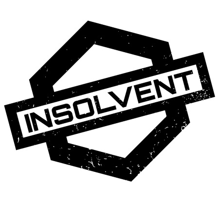 strapped: Insolvent rubber stamp. Grunge design with dust scratches. Effects can be easily removed for a clean, crisp look. Color is easily changed.