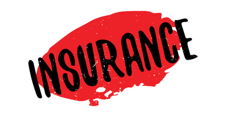 insured: Insurance rubber stamp. Grunge design with dust scratches. Effects can be easily removed for a clean, crisp look. Color is easily changed. Illustration