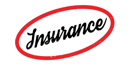 Insurance rubber stamp. Grunge design with dust scratches. Effects can be easily removed for a clean, crisp look. Color is easily changed. Illustration