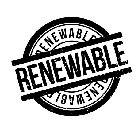 Renewable rubber stamp.