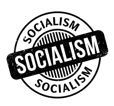 Socialism rubber stamp. Grunge design with dust scratches. Effects can be easily removed for a clean, crisp look. Color is easily changed. Stock fotó - 87531621