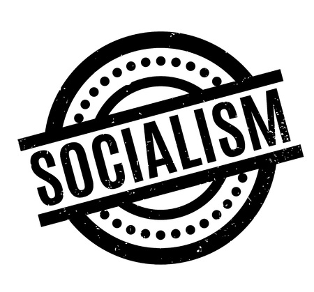 Socialism rubber stamp. Grunge design with dust scratches. Effects can be easily removed for a clean, crisp look. Color is easily changed. Imagens - 87531622