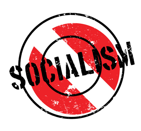 Socialism rubber stamp. Grunge design with dust scratches. Effects can be easily removed for a clean, crisp look. Color is easily changed.