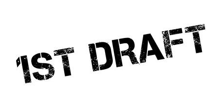 1St Ébauche de timbre en caoutchouc. Conception de grunge avec des rayures de la poussière. Les effets peuvent être facilement supprimés pour un aspect net et net. La couleur est facilement changée.
