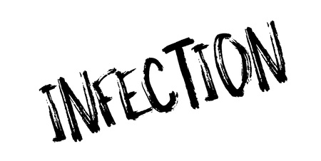 diseased: Infection rubber stamp.
