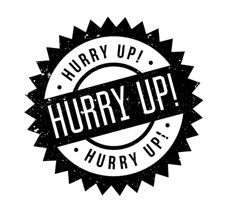 Hurry Up rubber stamp. Stock Illustratie