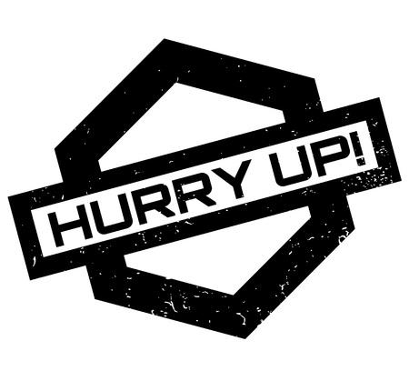 Hurry Up rubber stamp. Иллюстрация