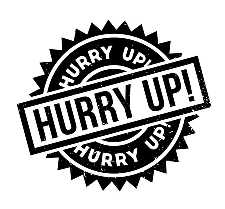 Hurry Up rubber stamp. Stock Vector - 87531799