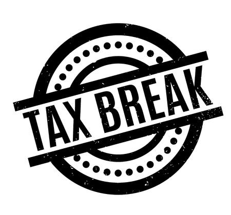 Tax Break Rubberzegel Vector Illustratie