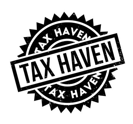 Tax Haven rubber stamp Illustration