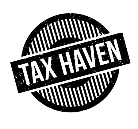 Tax Haven rubberstempel Stockfoto - 87531959