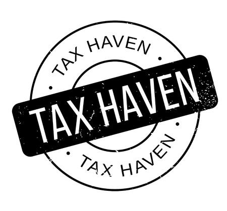 Tax Haven rubberstempel Stockfoto - 87531968